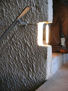 Concrete light fitting by Le Corbusier at Couvent de La Tourette via Minke Wagenaar's Stairs of Le Corbusier Flickr set