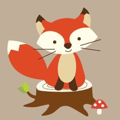 Forest Friends Fox - Animal Pictures - Childrens Wall Art - Nursery Pictures