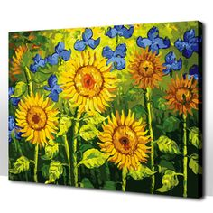 paint sunflowers canvas | Canvas Painting for Beginners Reviews – read Lastest Canvas Painting ...