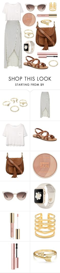 """""""Sunny Dreams"""" by tasha-m-e ❤ liked on Polyvore featuring Lipsy, New Look, MANGO, Steve Madden, Chloé, Maybelline, Gucci, Stella & Dot, Too Faced Cosmetics and Bling Jewelry"""