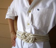 gotta make this knotted rope belt