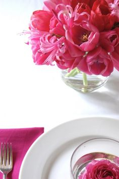 Make Your Own Tulip Centerpiece from Chelsea at Frolic