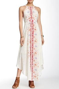 Caught in the Moment  Printed Cutout Maxi Dress