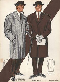 1950s Fashion Print, Men
