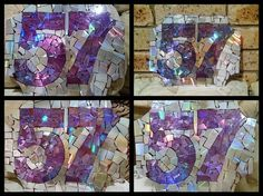 bling bling house numbers, crafts, how to, outdoor living, repurposing upcycling, DVD CD House Numbers