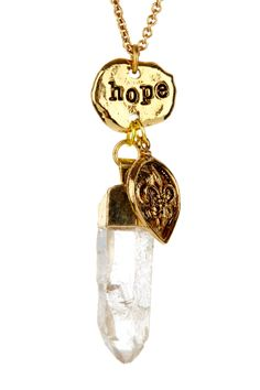 Hope Raw Crystal Point Pendant Necklace on HauteLook