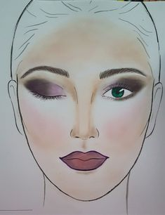 Pantone 2018 year's colours see many shadows of #violet, ranging from #ultraviolet to a lighter #balletslipper, a #lavender here used for a #smokeyeye. #ombrelips in the same shadows give makeup a strong look. #facechart #makeup #personalmakeup #makeupartist #face #look #workinprog #beauty #cosmetics #facechartmakeup #makeupersonalizzati #drawings #artface #artwork #cosmetics #eyeshadow #blush #pantone2018