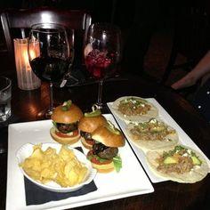 Sonoma Wine Bar & Restaurant - Sonoma sliders and pork tacos. - Houston, TX, United States