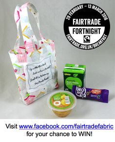 Fairtrade Fortnight Day 6 prize - win at www.facebook.com/fairtradefabric #fairtradefortnight #fairtrade #youeattheyeat #cotton