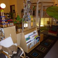 Reggio Classroom environment- lighting, colors, natural materials