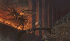 ArtStation - Flame of Udûn, Manuel Castañón Peter Jackson Movies, Master Studies, Morgoth, Balrog, Jrr Tolkien, Gandalf, Devil May Cry, Middle Earth, Lord Of The Rings