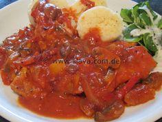Puszta-Schnitzel an Ajvar-Paprika-Sauce « kochen & backen leicht gemacht mit Schritt für Schritt Bilder von & mit Slava