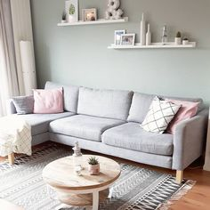Apartment Living, Nordic Style, Shelves, Frames, Lounges, Interiors,  Picture Wall, Wall Design, Living Room, Homes