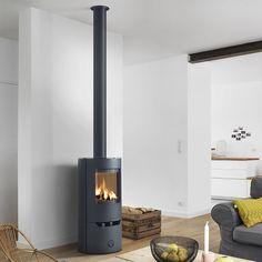 Poêle à bois 6 kW habillage intérieur en céramique