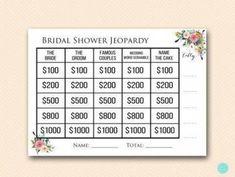 BS138-jeopardy-bridal-shower-quiz-garden-bridal-shower Bridal Shower Cakes, Baby Shower Favors, Baby Shower Games, Baby Shower Decorations, Lingerie Shower Gift, Wedding Shower Games, Wedding Showers, Wedding Questions, Garden Bridal Showers