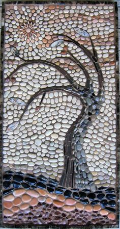 Mosaic Rocks, Pebble Mosaic, Stone Mosaic, Pebble Art, Mosaic Art, Mosaic Glass, Glass Art, Rock Mosaic, Mosaic Mirrors