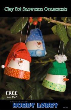Paint Terra Cotta Pots | Terra Cotta snowmen | Christmas