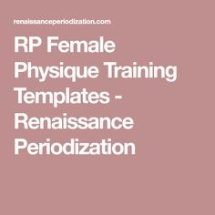 rp female physique training templates