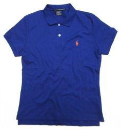 Ralph Lauren Sport Women's Polo Shirt in Royal Blue (Orange Pony) (SLIM FIT) (Large / L) Ralph Lauren. $59.99