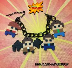 Supernatural Charm Bracelet (Perler Beads) by MadamFandom  --- ***This is an original design by MadamFandom!**** ---- www.fb.com/MadamFandom