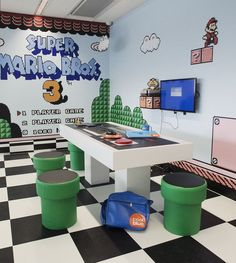 room design 35 The Most Beautiful Room Ideas With Game Themes Ideas Nerd Room, Gamer Room, Sala Nerd, Nintendo Room, Nintendo Consoles, Video Game Rooms, Video Games, Game Themes, Game Room Design