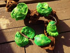 SET of 6 Christmas oyster shell Ornament Hand by BuyAFairytale