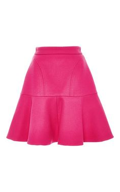 Pink flare mini skirt by NO. 21 Now Available on Moda Operandi