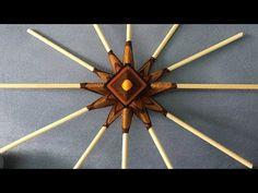 (247) Mandala de 12 Puntas Como Hacer la Estructura Base - YouTube 5 Diy Crafts, God's Eye Craft, Crochet Wall Hangings, Gods Eye, Paper Weaving, Magic Circle, Crochet Mandala, Macrame Tutorial, Woven Wall Hanging