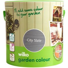 Shop for Wilko Garden Colour City Slate Exterior Paint at wilko - where we offer a range of home and leisure goods at great prices. Stationery Craft, Dark Smoke, Garden Painting, Garden Pictures, Colorful Garden, Business For Kids, Exterior Paint, Party Gifts, Ultra Violet