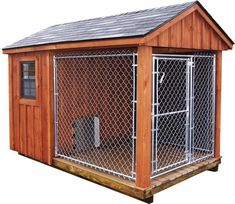 Dog Kennel Idea. This will be great when I have my animal sanctuary one day! 🐺