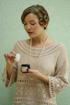 Vintage knitting and Crochet Patterns This is a sample, showing photos of all the knitting patterns contained in the full book. Vintage Knitting, Vintage Crochet, Vintage Diy, Vintage Modern, Vintage Style, Filet Crochet, Knit Crochet, Crochet Tops, Knitting Patterns