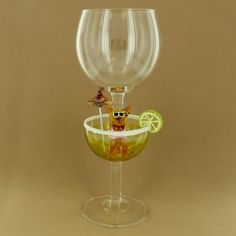 Chihuahua Margarita Wine Glass - Fire and Ice