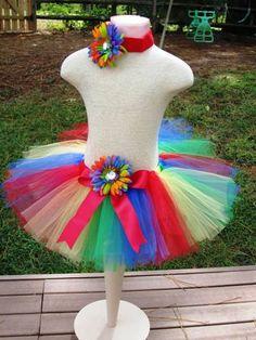 Big Top Brights Tutu! Perfect for Clown costume!