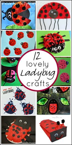 12 Lovely Ladybug Crafts for Kids that are perfect for spring time. iheartcraftythings.com