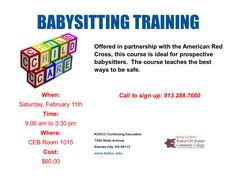 Offered in partnership with the American Red Cross, this course is ideal for current or prospective babysitter's ages 11 - 15.
