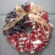 Americana Rag Wreath