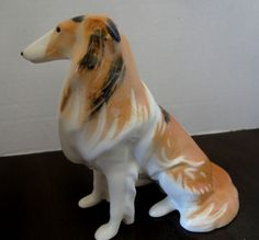 Scotch Collie, Beautiful Vintage Dog Figurine, Made in USSR - Signed
