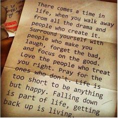 """Falling down is part of life... Getting back up is living!"""
