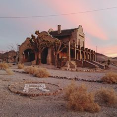 This morning in Rhyolite, ghost town, Nevada by kevinrussmobile, via Flickr