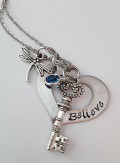 Personalized Hand Stamped Believe Keepsake by 3littlegems on Etsy, $32.00