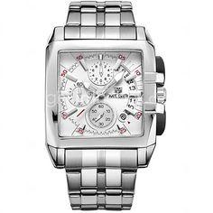 Hombre Reloj Deportivo / Reloj de Vestir / Reloj de Pulsera Cuarzo Calendario / Cronógrafo / / Cerámica Banda Casual Plata Marca - USD $31.19