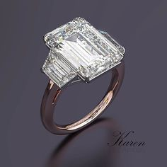A Beautiful 10 Carat three stone engagement ring from Bez Ambar. For More Information about 10 Carat Diamond from Bez Ambar   bezambar.com/10-carat-diamond-ring/ #diamonds #engagementrings #BezAmbar