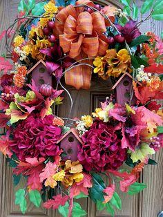 Fall Birdhouse WreathFall WreathBirdhouse WreathFront Door