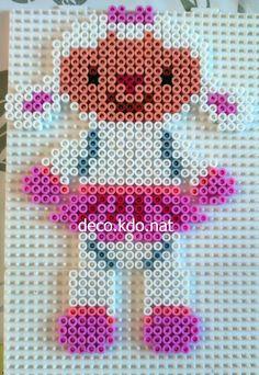 Lambie - Disney Doc McStuffins  hama beads by DECO.KDO.NAT
