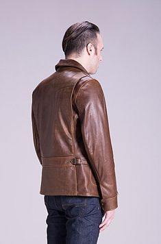 Leather delivery jacket Cowhide Leather 0b287e2025464