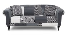 Create a talking point with Fame. Choose from a mix of stunning monochrome geometric fabrics and leather or just leather. Outdoor Sofa, Outdoor Furniture, Outdoor Decor, Geometric Fabric, Dfs, Interior Decorating, Patches, Lounge, Couch
