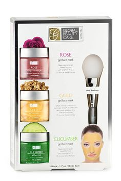 Rose, Gold, Cucumber Gel Face Mask with Applicator * Be sure to check out this awesome product. (This is an affiliate link)