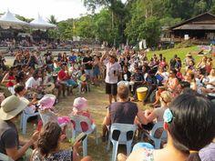 Drumming circle.  Rainforest World Music Festival.  Kuching Malaysian Borneo