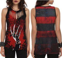 S M L New Nightmare on Elm Street Punk Goth Freddy Krueger Horror Movie Tank Top   eBay