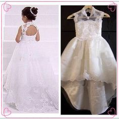 Note: The+dress+does+not+include+any+accessories,Bidding+is+for+one+Girl+dress+only. Color:White+,Ivory, Please+check+the+size+chart+as+below: US+2 Bust:21inches/53cm,Waist:20inches/51cm,Hips:20inches/51cm,Shoulder+to+Floor:33inches/84cm, US+3 Bust:22inches/56cm,Waist:21inches/53cm,Hips:21...